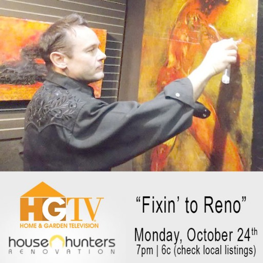 Artist Darrell Troppy Featured on HGTV's Hit TV Series House Hunter Renovation